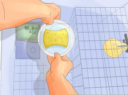 قرار دادن طرف آب پس از ساخت دستگاه جوجه کشی