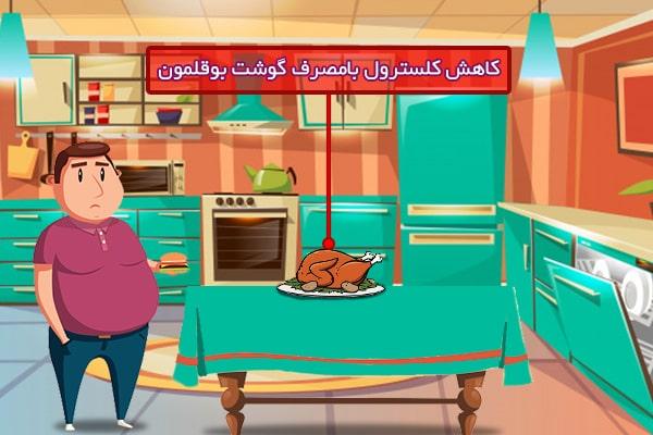 کنترل کلسترول با گوشت بوقلمون